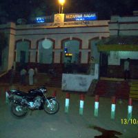 Muzaffarnagar Railway Station at night, Музаффарнагар
