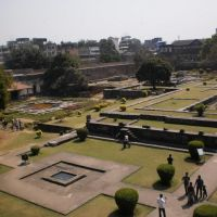 Layout inner main courtyard and fountains,Shaniwar wada., Пуна
