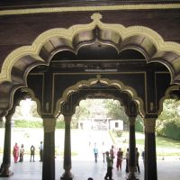 Interior View 2 - Summer Palace of Tipu Sultan, Bangalore, India - Photo by T.S.Bilhanan, Бангалор