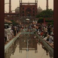 View from Meena Bazaar of Jama Masjid, Old Delhi, India, Дели