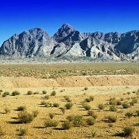 Semi-desert Kevír with mountains in Anarak - نیمه بیابانی با کوه ها در انارک - ÍRÁN - 1999, Марагех