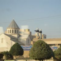 ابادان-همجواري مسجد و كليسا-abadan-neighborhood mosque and church, Абадан