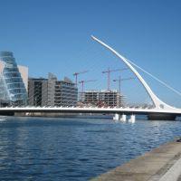 Samuel Beckett BridgeSpanning Guild St to Sir John Rogerson Quay Dublin Dockland, Дан-Логер