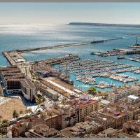 Alicante: Vista desde el castillo de Santa Bárbara., Аликанте