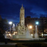 Plaza de los Luceros de noche, Алкантара