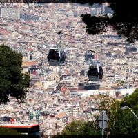 Barcelona - Panorama miasta / Panorama of the city - malby, Барселона