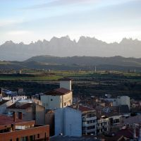 Les Muntanyes de Montserrat des de el parc de Puigterrà - (www.guiamanresa.com), Манреса
