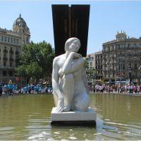 Barcelona Spain 2010  - Plaça de Catalunya, Тарраса