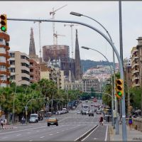 THE  GREEN  WAVE TO SAGRADA FAMILIA   /Please click full size  and F11/, Тарраса