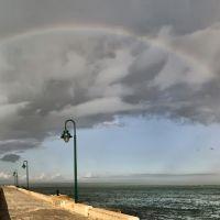 Panoramica de la Caleta con arcoiris, Алжекирас
