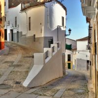 Los Caleros street in Caceres downtown: Unescos  Heritage of Mankind, Кацерес