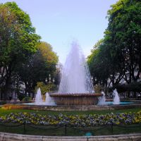 Fuente en Plaza Compostela, Vigo, Galicia, España., Виго