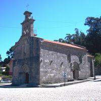 Iglesia de Santa María de Castrelos. (Romanico. Siglo XIV). Vigo. Galicia. España., Виго