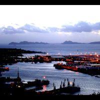 : Anochecer en el puerto, Виго