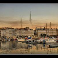 Panoramica. Atardece en La Coruña, Ла-Корунья