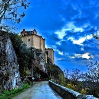Soria. Ermita de San Saturio al anochecer, Сория