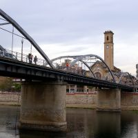 Puente sobre el Rio Ebro, Tortosa, Tarragona, Cataluña, España, Тортоса