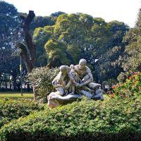 """Buenos Aires -Plaza Gral.San Martin -Escultura """"La Duda"""", Азул"""