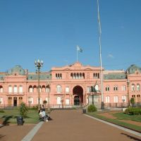 Argentina, Buenos Aires la Plaza de Moyo, le palais Présidentiel (casa rosada), Азул