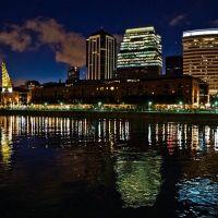 Puerto Madero nocturno - Ciudad de Buenos Aires Argentina  /  Puerto Madero at night - Buenos Aires Argentina, Азул