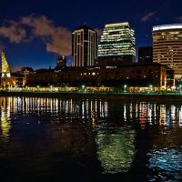 Puerto Madero nocturno - Ciudad de Buenos Aires Argentina  /  Puerto Madero at night - Buenos Aires Argentina, Буэнос-Айрес
