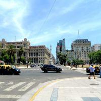 Palacio de Justicia y monumento a Lavalle. C.A.B.A., Буэнос-Айрес