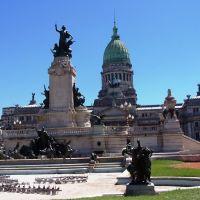 Plaza del congreso en una mañana soleada., Буэнос-Айрес