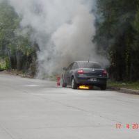 Puerto de Campana auto incendiandose (www.aenbici.blogspot.com), Кампана
