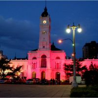 Palacio Municipal de La Plata de noche / Buenos Aires, Ла-Плата