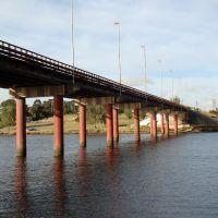 Necochea (Bs.As.) - Puente carretero sobre el rio Quequen - ecm, Некочеа