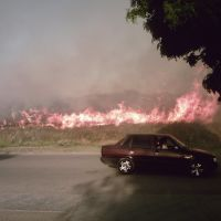 incendio de pastos 1/11/11(av passo), Пунта-Альта
