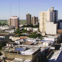 Edificios del centro y ribera al fondo (vista norte) / Lautaro, Сан-Николас