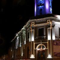 Banco Provincia de Buenos Aires suc San Nicolas pintado con luz, Сан-Николас
