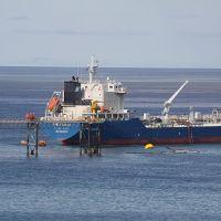 Cargando petróleo en la boya sueca, Caleta Córdoba, Вилла-Мариа