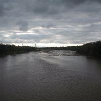El río Chocancharava (o Cuarto), vista hacia el norte, Рио-Куарто
