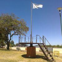 BANDERA ARGENTINA FLAMEANDO EN COLA PARA VIGÍA, COSTANERA GOYA - CORRIENTES (ARGENTINA), Гойя