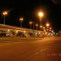 Viaducto Costanera y Vicente Zapata (De noche), Мендоза