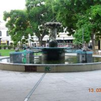 Rosario - Plaza Sarmiento - Fuente ( www.alepolvorines.com.ar ), Росарио