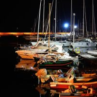 Ноћ у марини~~~Marina at night, Бари