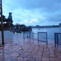 Brindisi, view of the port on a rainy March afternoon, Бриндизи