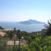 Capri Gezien van af de via Nastro Verde op het schiereiland van Sorento., Сорренто