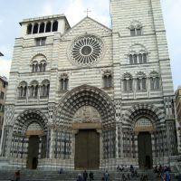 Frente completo de la Catedral de San Lorenzo -Genova, Генуя
