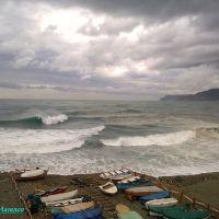 Savona, forte mareggiata vista dal Prolungamento a Mare (allerta meteo del 08 Novembre 2011), Савона