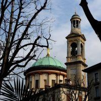 Cupola e campanile di Santa Maria Immacolata delle Grazie - Bergamo - GAP del 30/3/10, Бергамо
