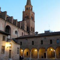 Mantova, scorcio serale di S.Andrea, Мантуя