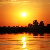 Mantova, la città dai mille tramonto - Tramonto doro., Мантуя