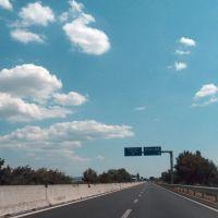 E45, near Selci, Italia, 13-08-2012., Каглиари