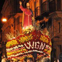 Al grido dei Fogliamari: <<Viva Gesù Nazareno!!!>> Inizia la Settimana Santa a Caltanissetta con la processione di Gesù sulla barca infiorata, per le vie del centro storico - Corso Vittorio Emanuele [002]., Калтаниссетта