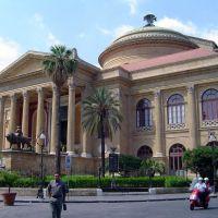 ITALIA Sicilia, Plaza de Verdi Teatro Massimo Palermo, Палермо