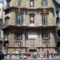 ITALIA Sicilia, Piazza Quattro Canti Palermo, Палермо